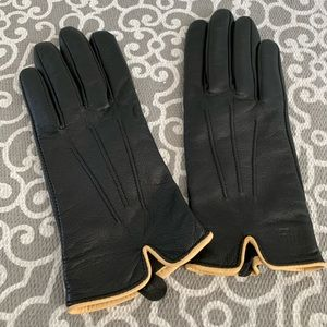 Ralph Lauren Black Leather gloves size small